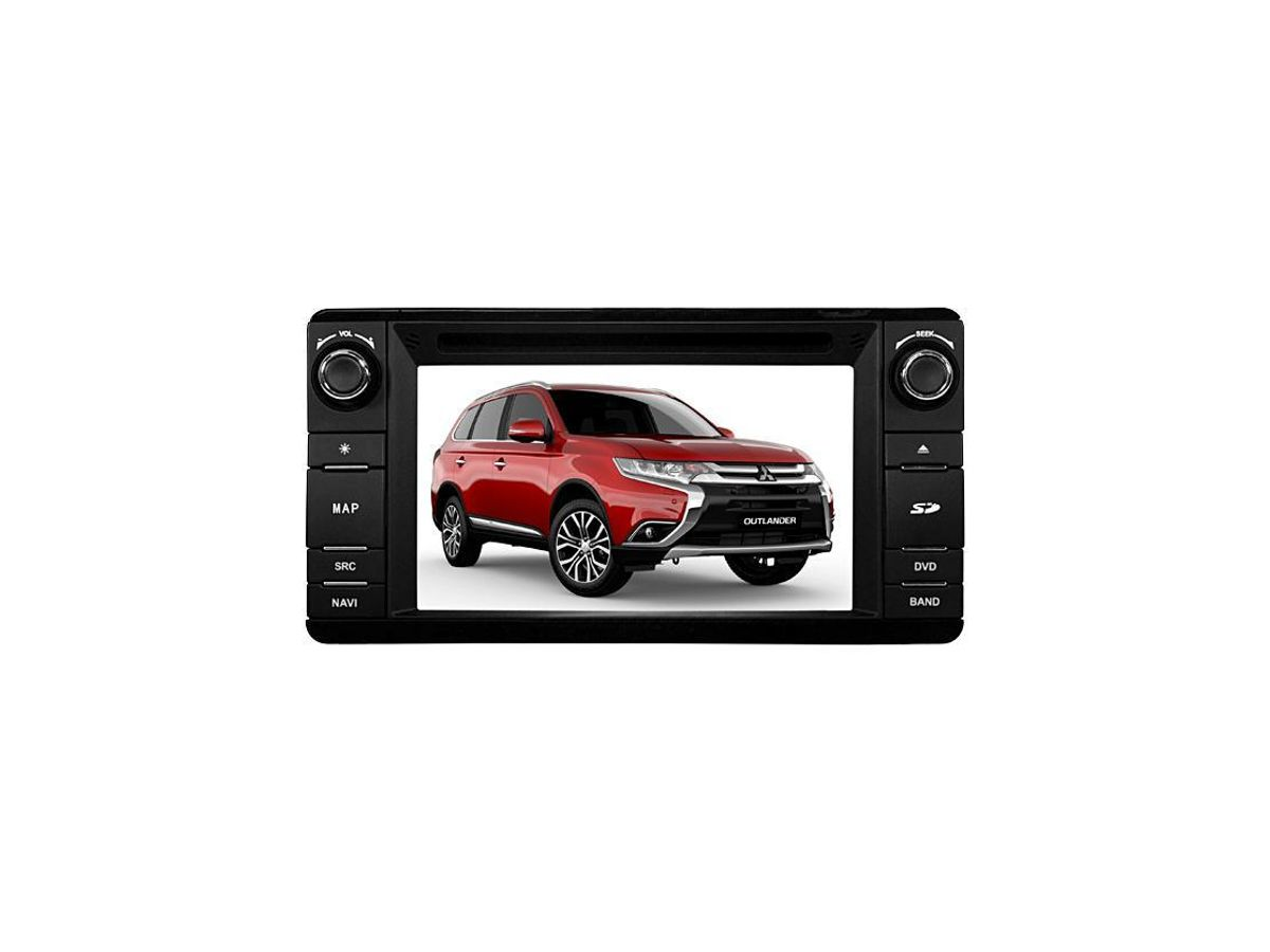 Central Multimídia Aikon para Mitsubishi Outlander S100 Wi Fi/3G Bluetooth Android/iOS